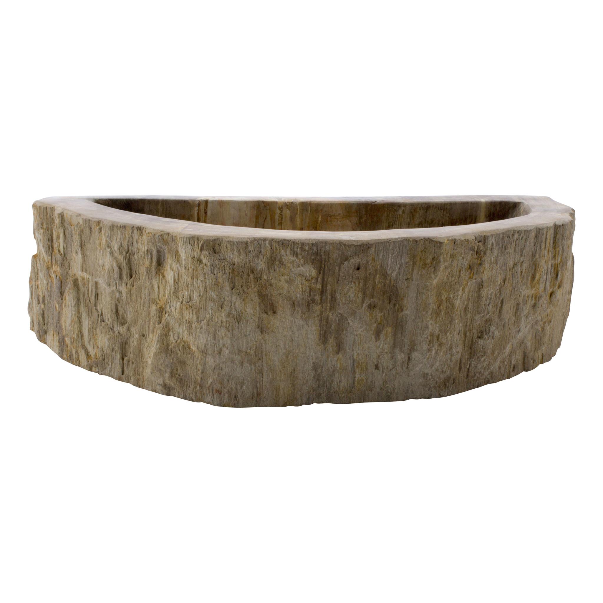 Indomarmer WC-Becken aus Versteinertes Holz