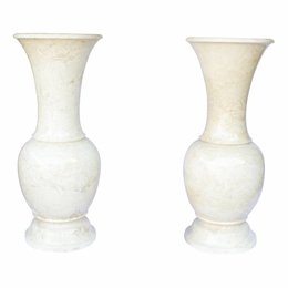Indomarmer White Marble Set of Vases