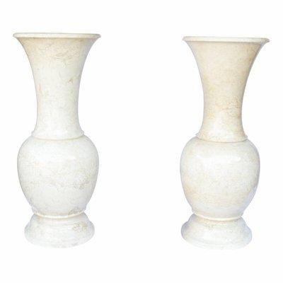 White Marble Set of Vases