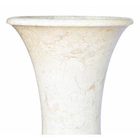 Indomarmer Set Vazen Wit Marmer