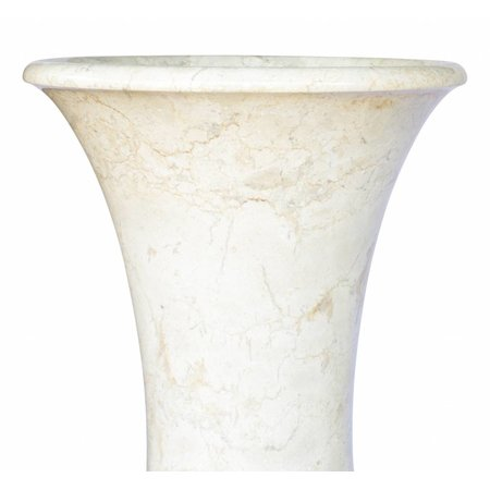 Set Vasen Weißer Marmor