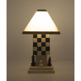 Table lamp Chess Onyx & Marble