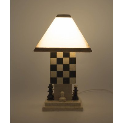 Indomarmer Schemerlamp Chess Onyx & Marmer