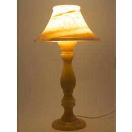 Indomarmer Runde Tischlampe Onyx