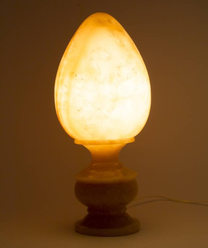 Indomarmer Egg Shape Lamp Onyx