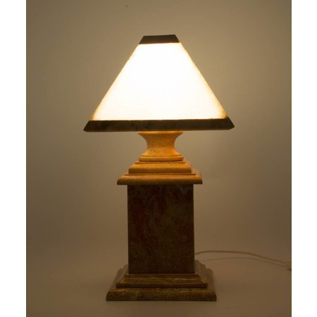 Indomarmer Corner Lamp Onyx & Marble