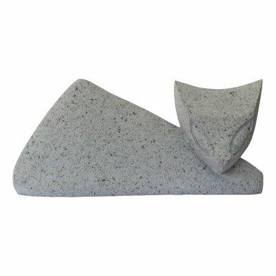 Indomarmer Abstrakte Katze aus Flussstein