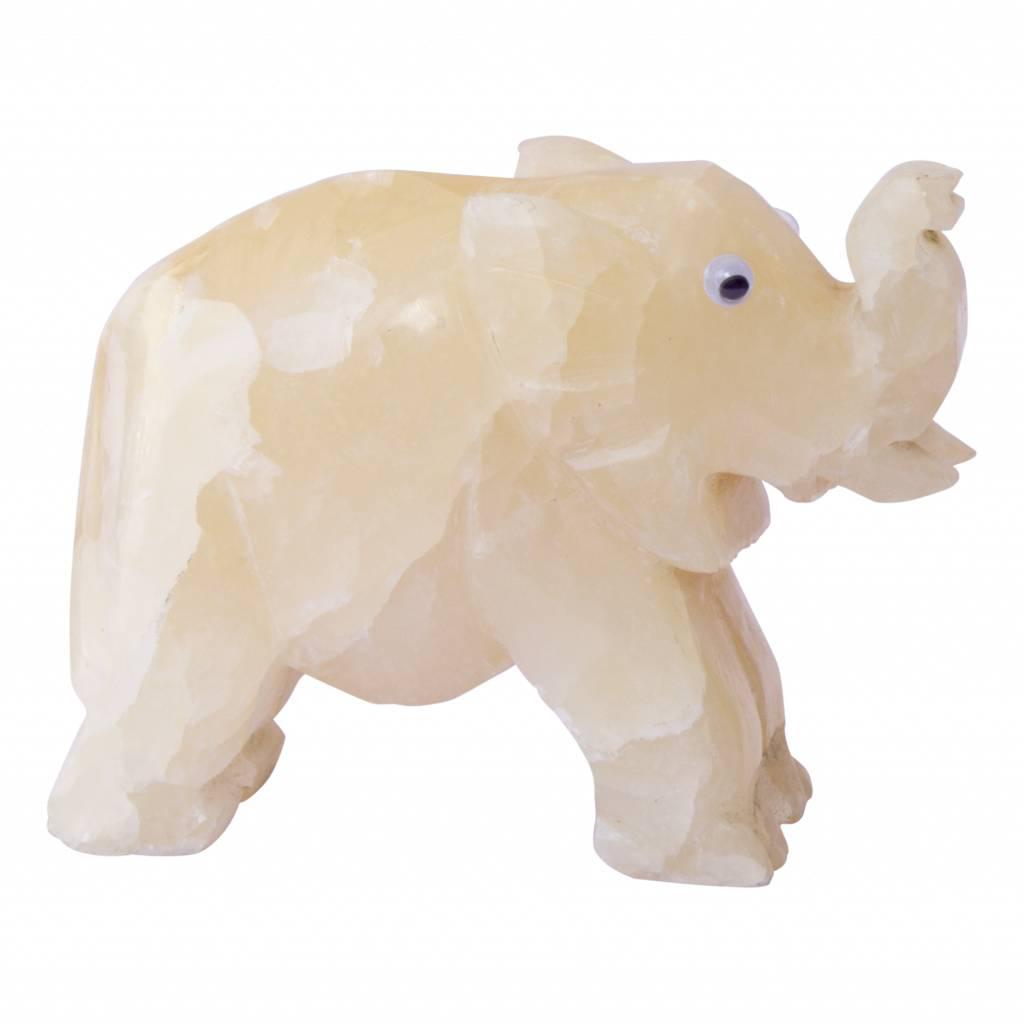 Indomarmer Kleiner Elefant aus Onyx