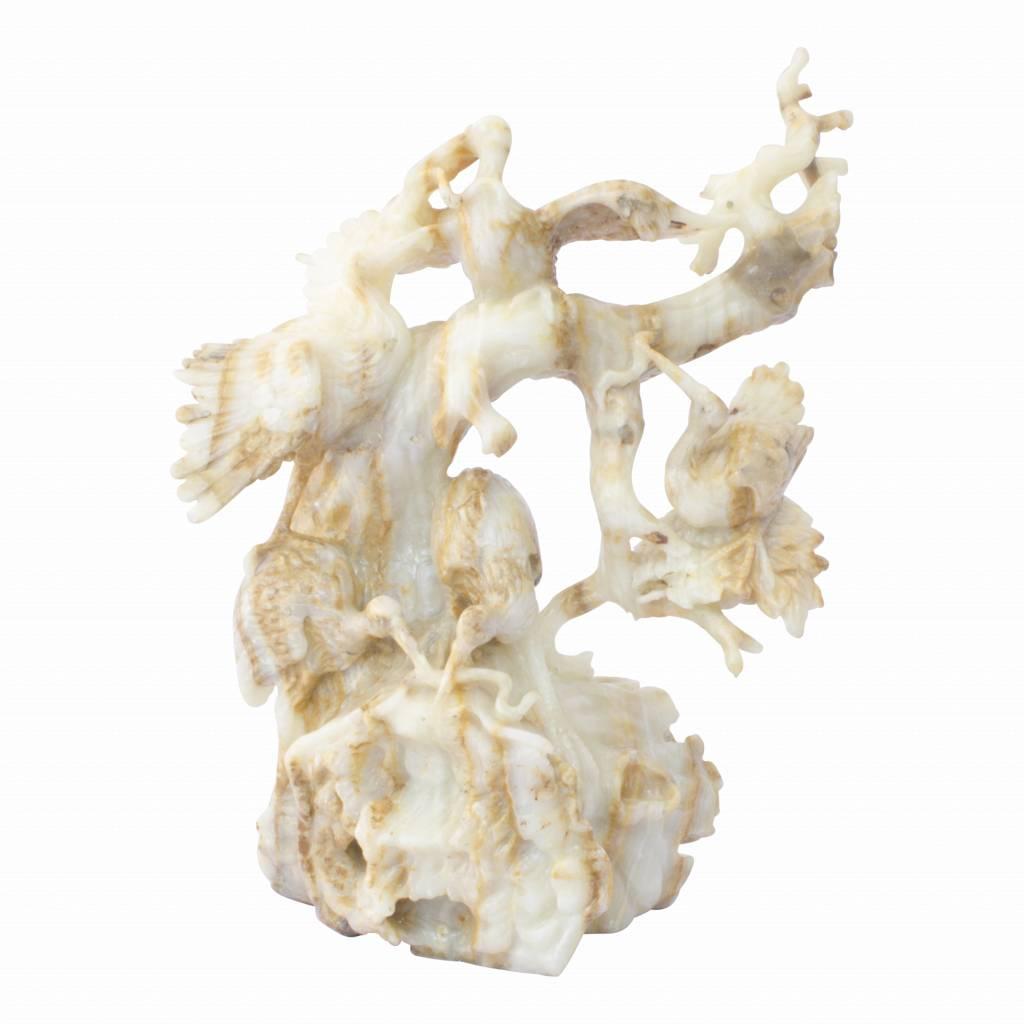 Indomarmer Störche aus onyx