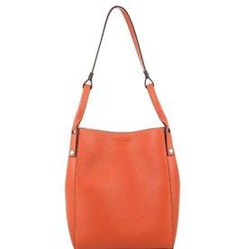 Julia's Bags Soepele leren schoudertas Julia, Oranje