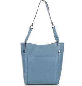 Julia's Bags Soepele leren schoudertas Julia, licht blauw