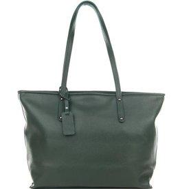 Julia's Bags Schoudertas, leren tas, handtas, damestas Marya donker Groen
