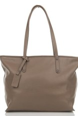Julia's Bags Schoudertas, leren tas, handtas, damestas Marya Taupe