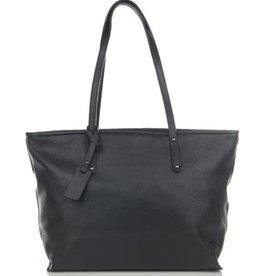 Julia's Bags Schoudertas, leren tas, handtas, damestas Marya Zwart