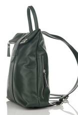 Julia's Bags Italiaanse leren rugtas, leren rugzak Resa, donker Groen