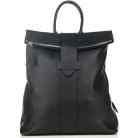 Julia's Bags Leren rugtas, leren rugzak Resa-Zwart