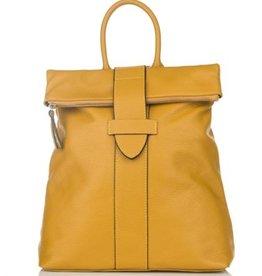 Julia's Bags Leren rugtas, leren rugzak Resa-donker Geel