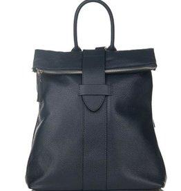 Julia's Bags Leren rugtas, leren rugzak Resa-Blauw