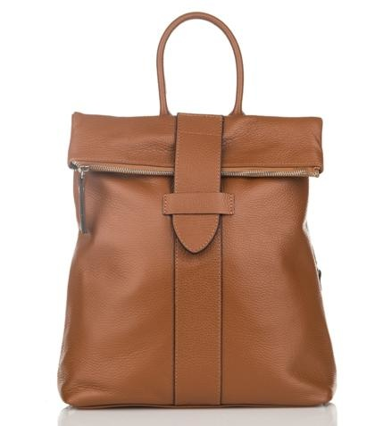 Julia's Bags Italiaanse leren rugtas, leren rugzak Resa, Cognac