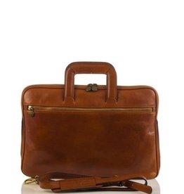 laptop tas, leren tas, zakelijke tas  Anton (cognac)