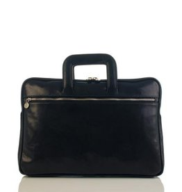 laptop tas, leren tas, zakelijke tas  Anton (zwart)