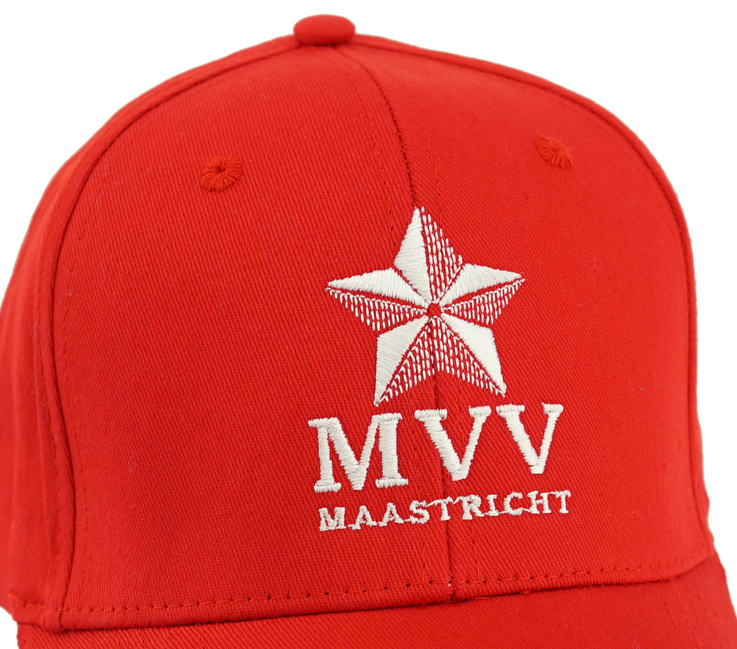 Topfanz Pet rood logo in borduur - MVV