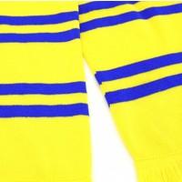 Topfanz Scarf yellow with blue stripes - STVV