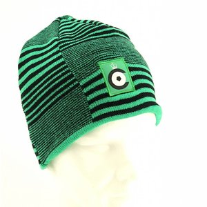 Hat green striped