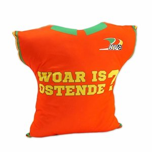 Kussen shirt 'Woar is Ostende?'