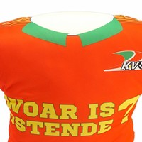 Topfanz Coussin maillot 'Woar is Ostende?'