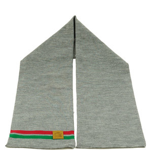 Scarf business grey (red/green stripe)