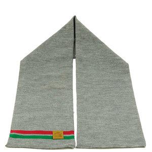 Sjaal business grijs (rood/groene streep)