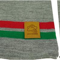 Topfanz Scarf business grey (red/green stripe)