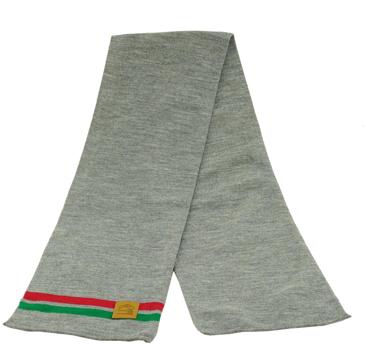 Topfanz Echarpe business gris (rouge/vert ligne)