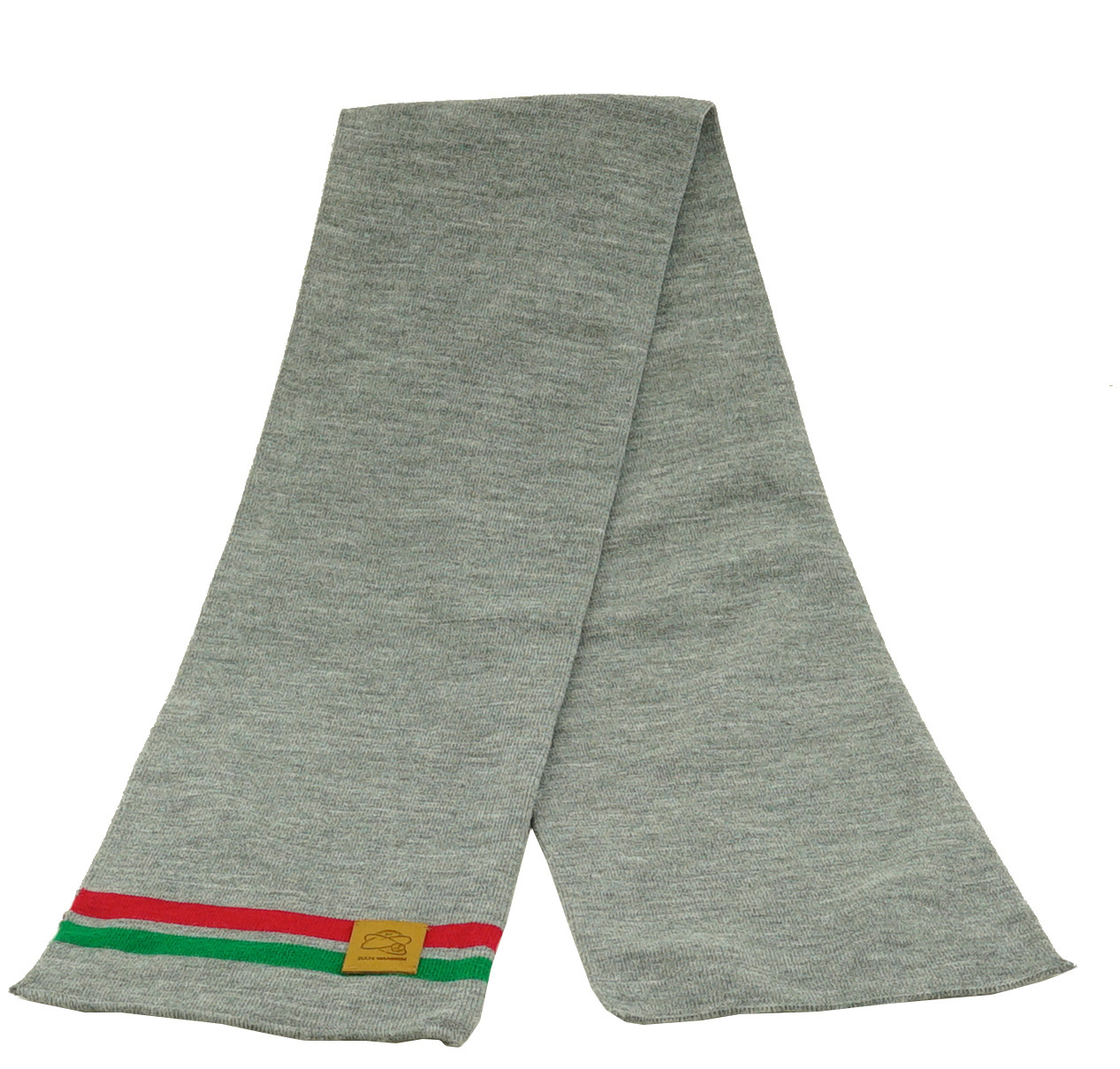 Topfanz Sjaal business grijs (rood/groene streep)