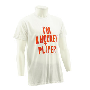 T-shirt  I'm a hockey player