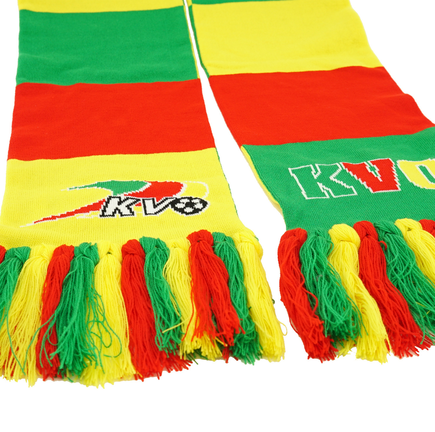 Topfanz Block scarf  fringes in a knot