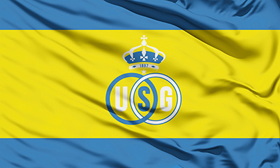 Topfanz Flag yellow with blue stripes
