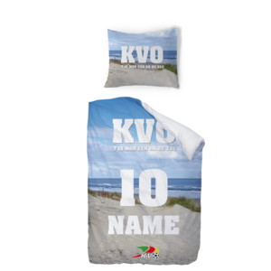 Personalised bed cover 1 persons - ocean view