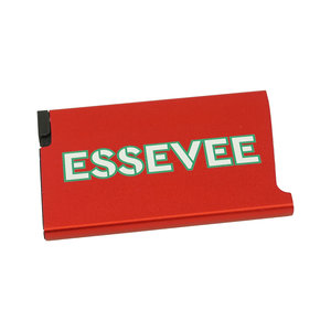 Card holder red aluminium