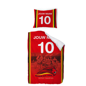 Personalised bed cover Red Lions