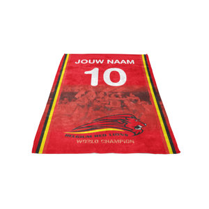 Personalised fleece blanket Red Lions