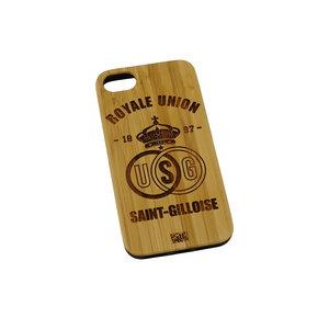 Coque téléphone en bois clair