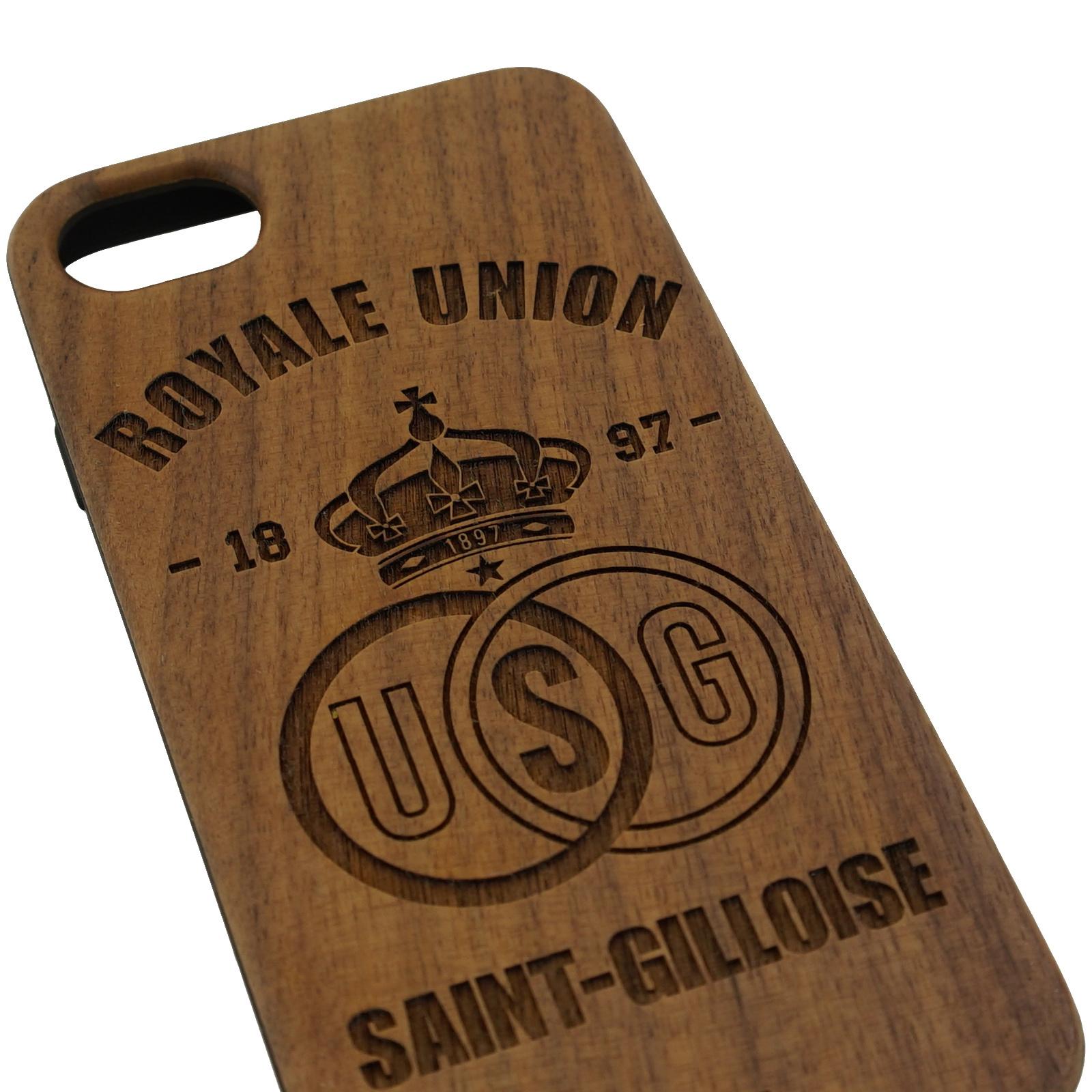 Topfanz Coque téléphone en bois foncé