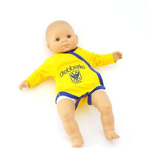 Romper overslag geel drebberke 3- 6 maanden