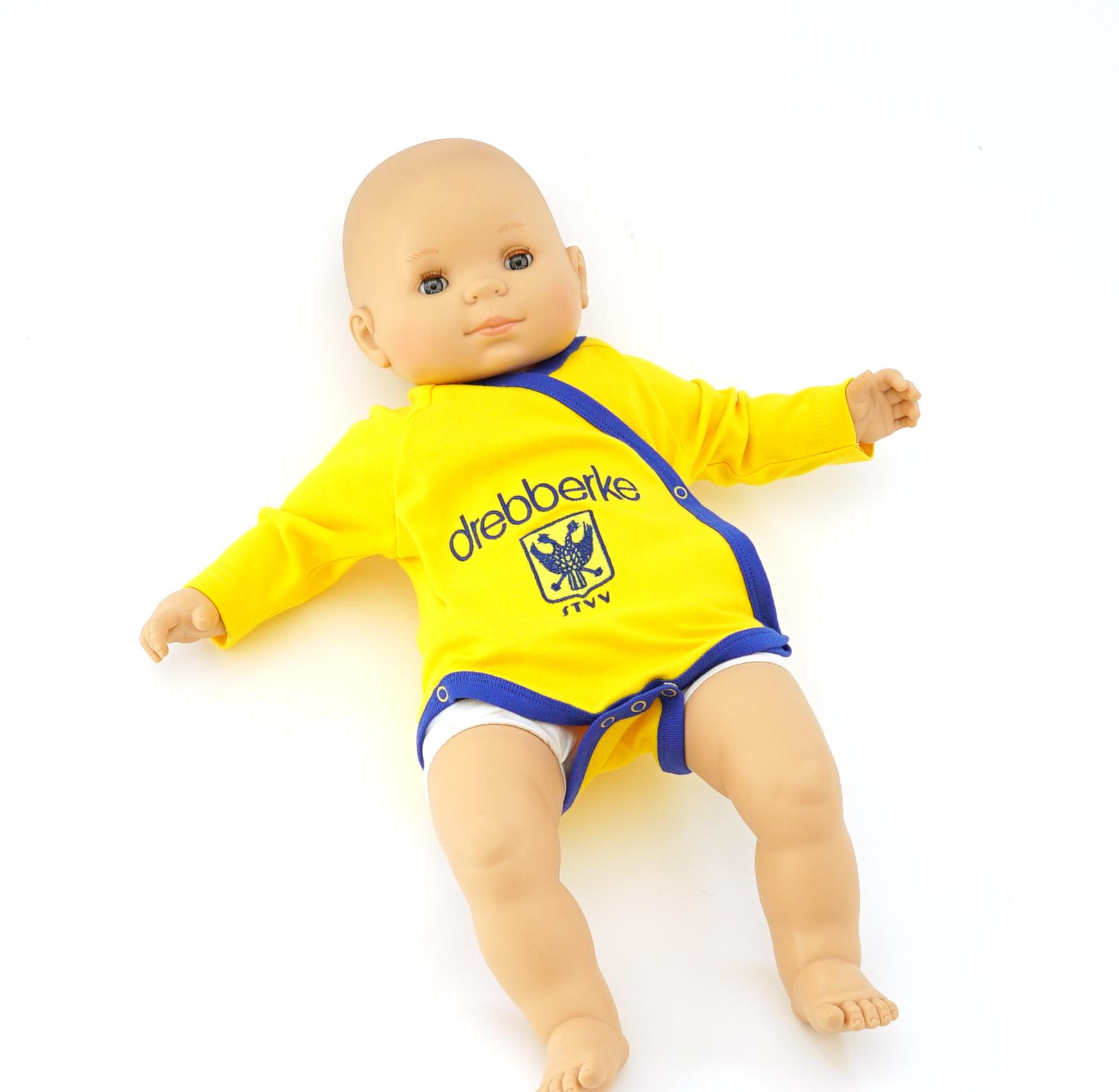 Topfanz Romper overslag geel drebberke 3- 6 maanden