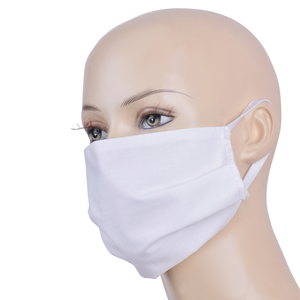 Reusable Face mask Cotton (White)
