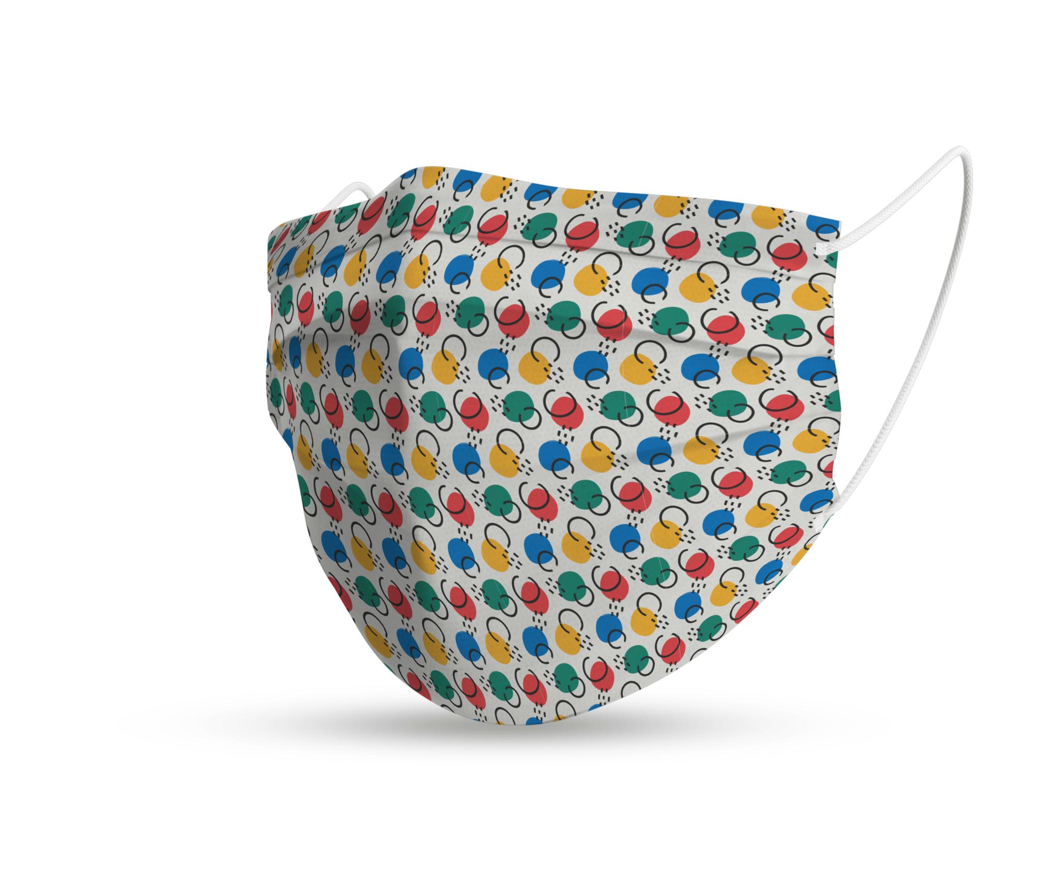 Topfanz Mondmasker trendy lijntjes en bolletjes