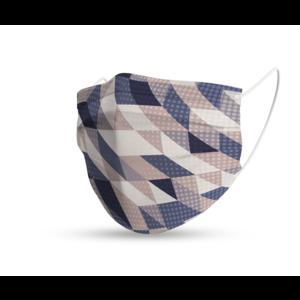 Masque trendy géométrique neutre