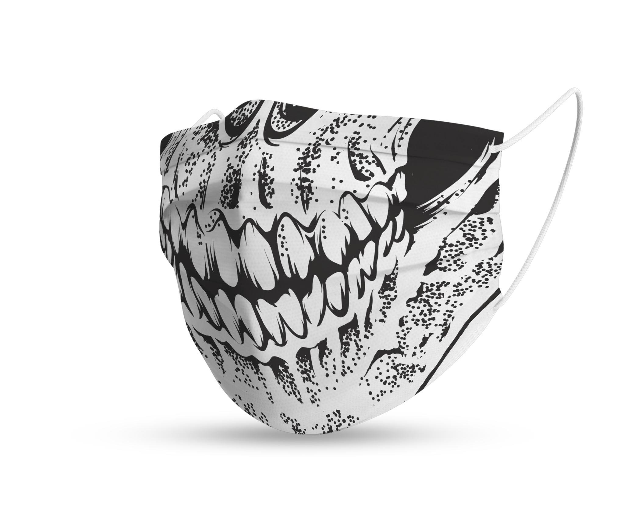 Topfanz Face mask trendy skull